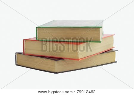 Three Books Stacked