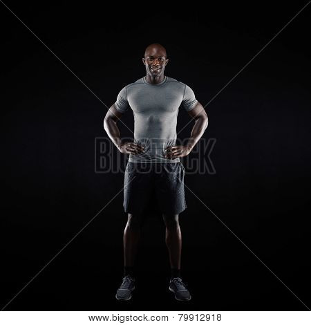 Muscular African Athlete In Sportswear