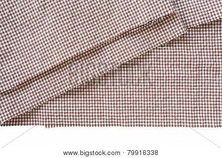 Close - up Brown canvas tablecloth texture and background