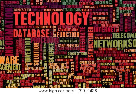 Technology Diversified Types of Technologies as Concept