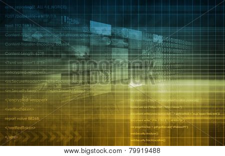 Modern Technology Code Illustration Lines as Art