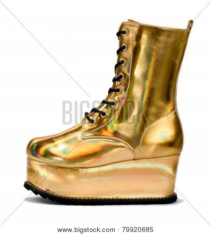 Golden Alien Shoe