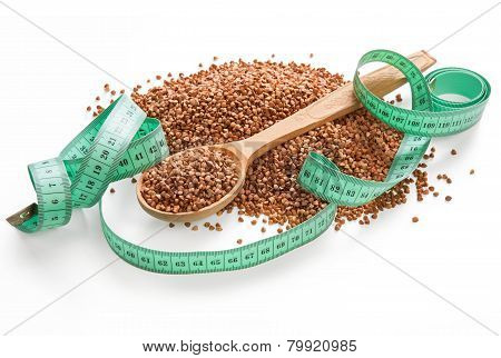 Pile of buckwheat groats
