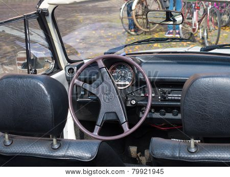 Interior Of A Classic Beetle Car