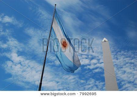 Argentina's Flag and El Obelisco
