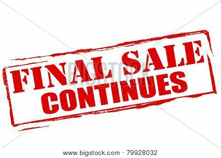 Final Sale Continues