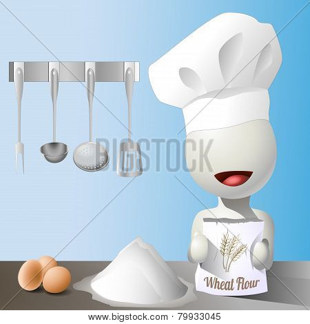 Vector faceless chef