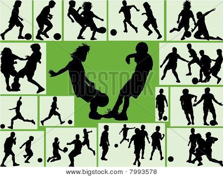 Football Wallpaper kids silhouette.eps