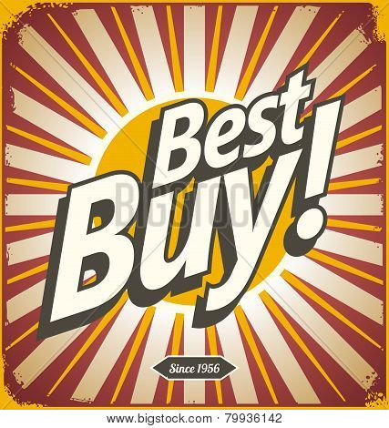 Best buy vintage vector sign template