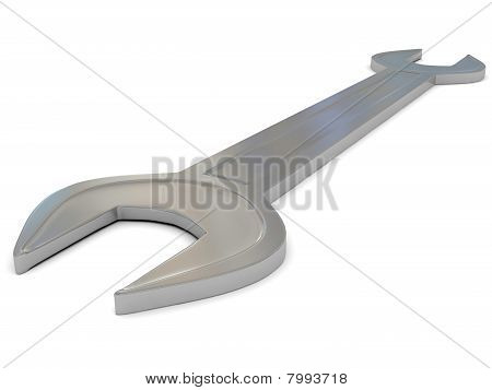 Iron Spanner Over White