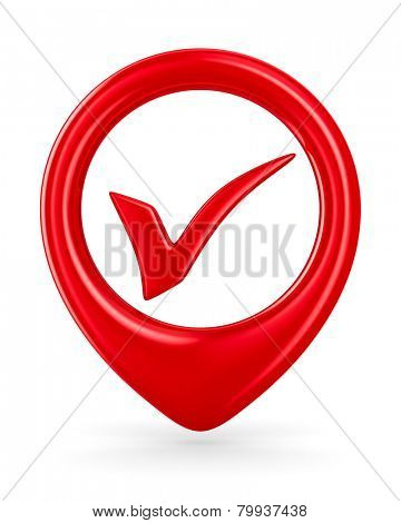 Symbol ok on white background. Isolated 3D image