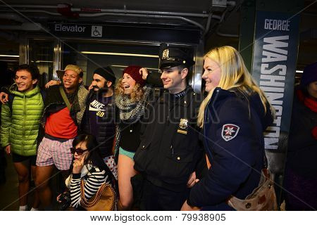 NYPD officer poses with