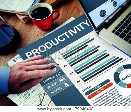 Productivity Businessman Working Calculating Thinking Planning Paperwork Concept