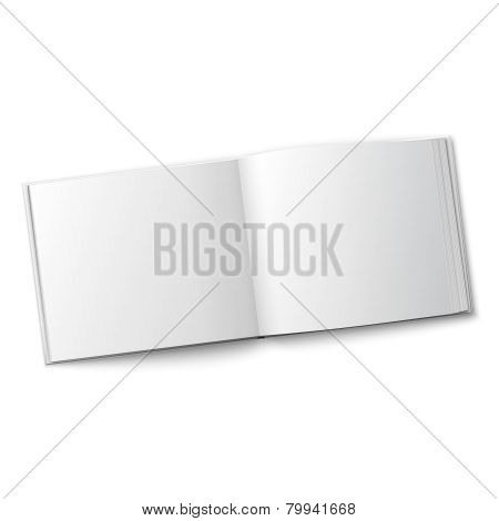 Blank spread album template.