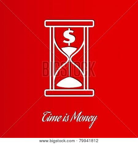Time Is Money Wit Sand Glass