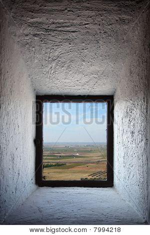 Castilla Landscape Seen Through Window