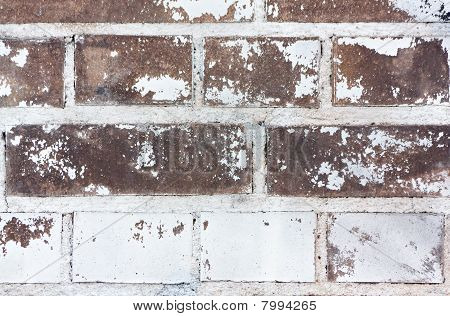 Brick Wall + White Paint (texture)
