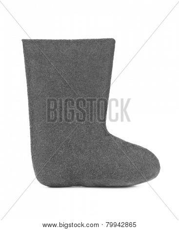 Felt boots - isolated on white background