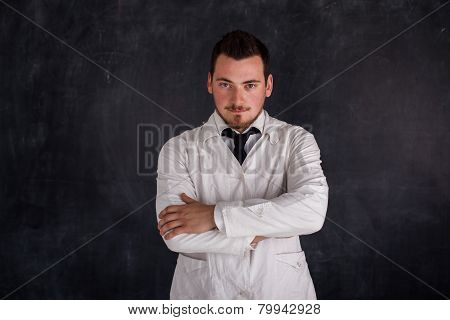man in a white robe