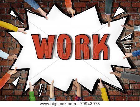 Work Employment Job Occupation Career Recruitment Hiring Concept