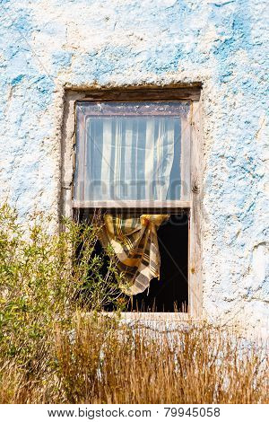 Window With A Curtain
