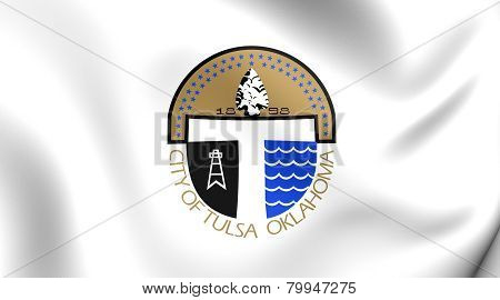 Flag Of Tulsa, Usa.