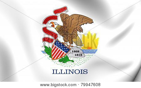 Flag Of Illinois, Usa.