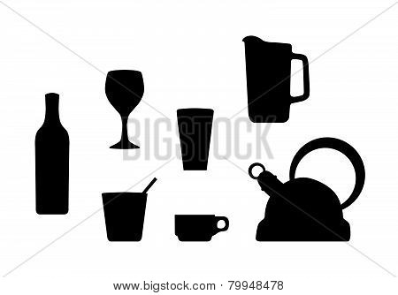 Beverage container silhouettes