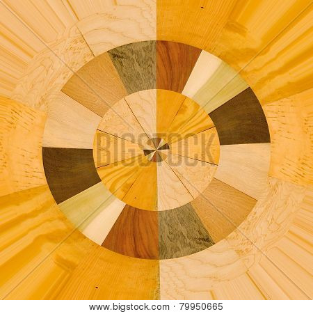 Abstract design with a variety of wood samples