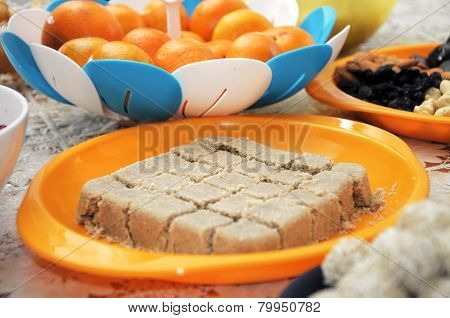 Halva On Festive Table