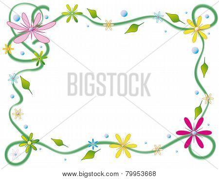 Floral postcard