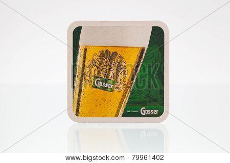 Beermat From Gosser Beer.