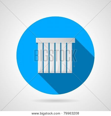 Vertical louvers flat vector icon