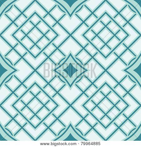 Green and cyan seamless geometric vector wallpaper pattern.