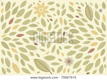 Leaf and floral background