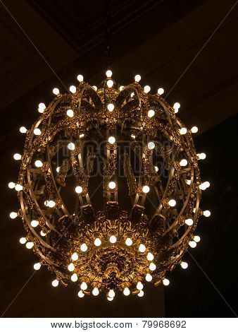 Nickel And Gold Plated Chandelier