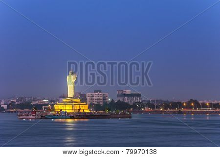 lake Hussain Sagar Hyderabad India