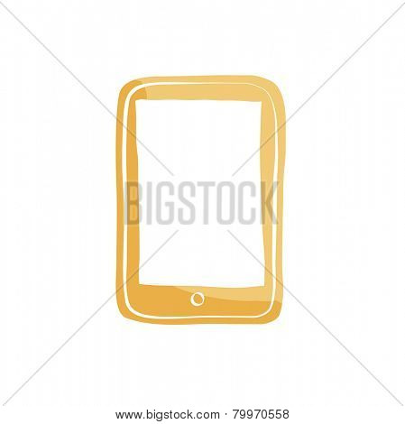 Smartphone Mobile Cellular Phone Modern Communication Vector Concept