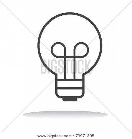 Lightbulb Ideas Creativity Development Icon Symbol Vector Concept