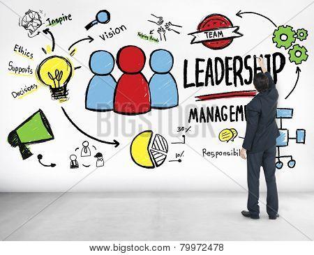 Businessman Leadership Management Aspiration Ideas Concept