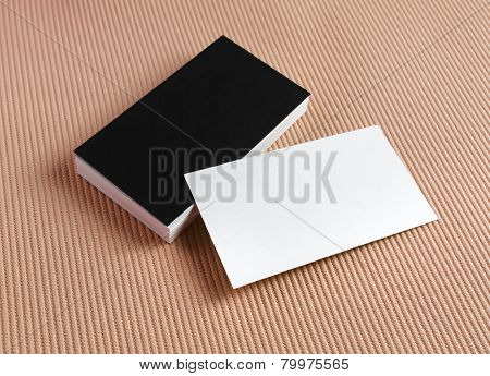 Business Cards On Color Background