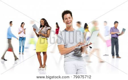 Diversity Casual People Online Shopping Digital Devices Concept