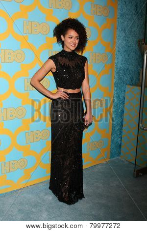 LOS ANGELES - JAN 11:  Nathalie Emmanuel at the HBO Post Golden Globe Party at a Circa 55, Beverly Hilton Hotel on January 11, 2015 in Beverly Hills, CA
