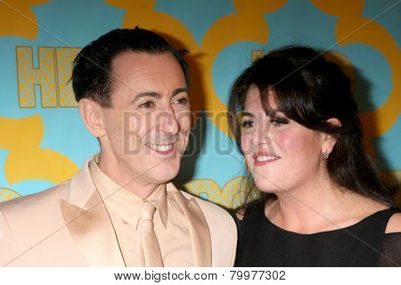 LOS ANGELES - JAN 11:  Alan Cumming, Monica Lewinsky at the HBO Post Golden Globe Party at a Circa 55, Beverly Hilton Hotel on January 11, 2015 in Beverly Hills, CA