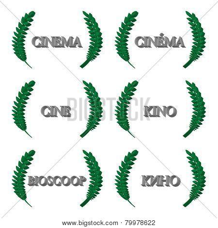Cinema Laurels In Different Languages 3D 1