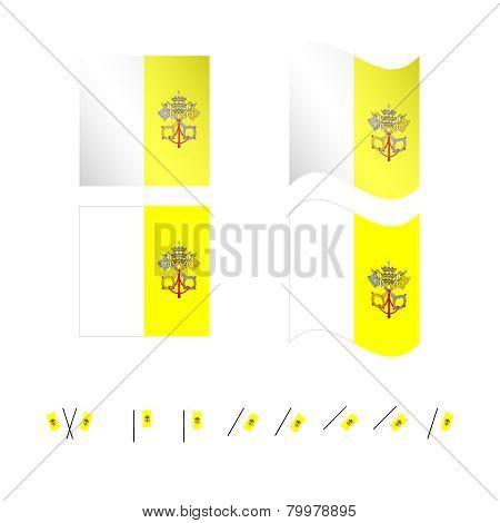 Vatican City Flags