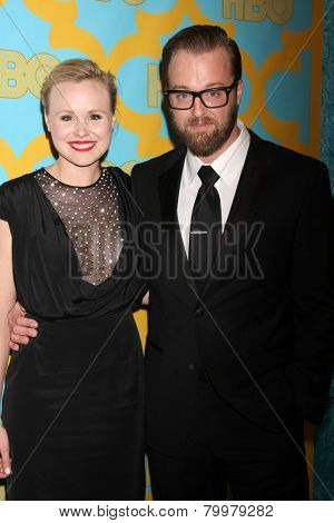 LOS ANGELES - JAN 11:  Alison Pill, Joshua Leonard at the HBO Post Golden Globe Party at a Circa 55, Beverly Hilton Hotel on January 11, 2015 in Beverly Hills, CA