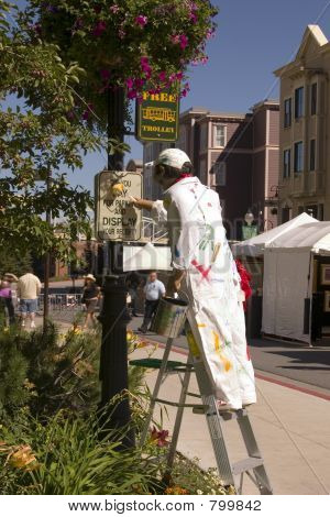 Painter Mannequin in downtown Park City