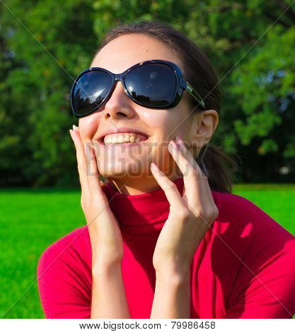 Happiness Sunglasses Smiling