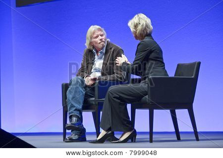 Frankfurt, Germany - May 17: Richard Branson, Founder And President Of Virgin Group, Answering To Sa